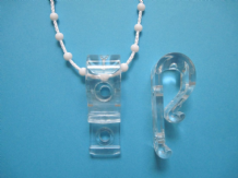 CORD-CHAIN-SAFETY DEVICE PACK OF 2 CLEAR- conforms to new uk legislation